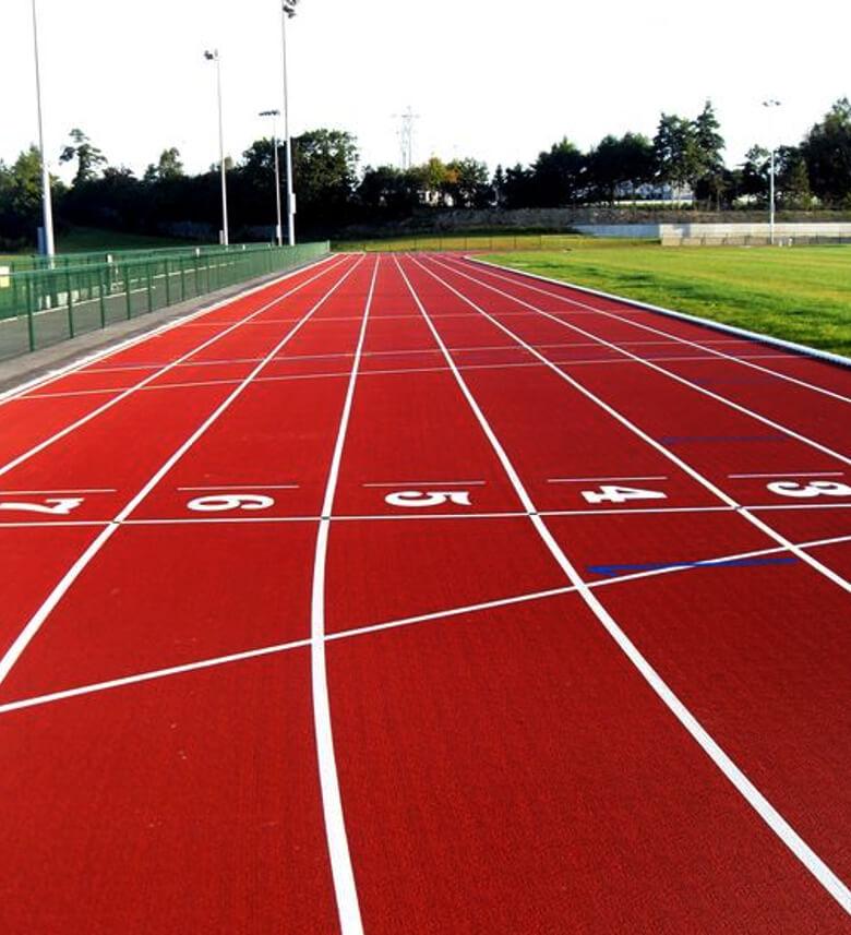 rubberised running tracks